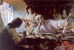 Antonio Stradivari, de Edgar Bundy, 1893: uma imagem romantizada de um artesão-herói